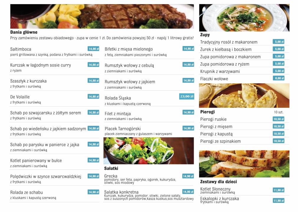 Bistro menu